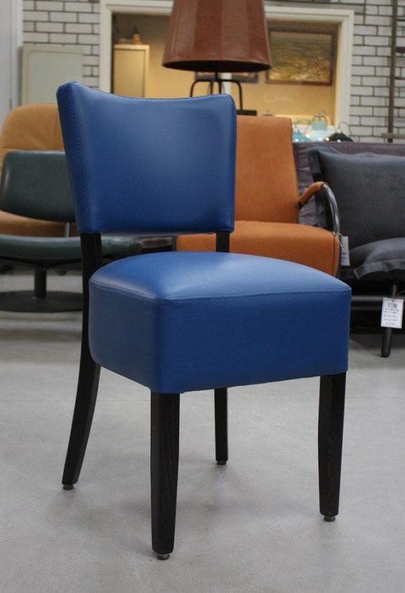 2 eetkamerstoelen Eva kunstleer blauw horeca kantoor kantine hal54