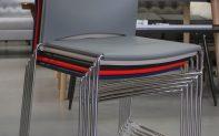 38s eetkamerstoel kunststof rvs stapelbaar koppelbaar conferentie kantoor hal54