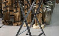 25 bartafel statafel hout metaal hamerslag horeca verhuur hal54