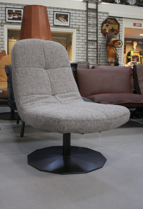 35 fauteuil Lush Jess design stof metaal draaibaar modern hal54