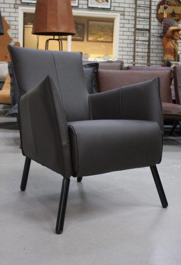 40 fauteuil Joris Jess design bruin leer metaal hal54-