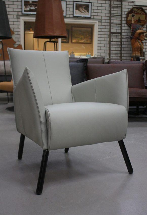 41 fauteuil Joris Jess design bruin leer metaal hal54