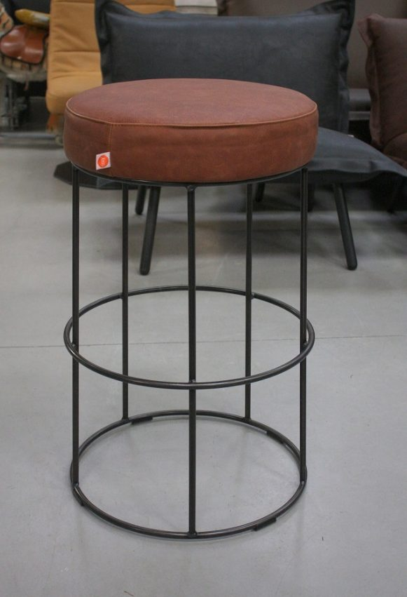 54m mix & match barstoelen jess design metaal leer showroommodellen sale hal54