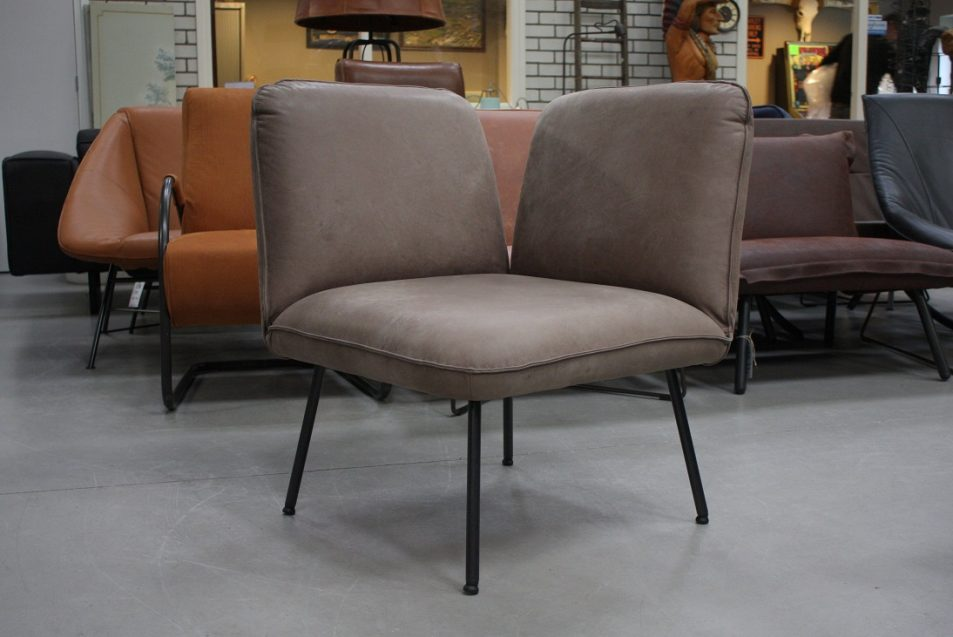 40 fauteuil Shuffle Jess design metaal leer aurula stone hal54