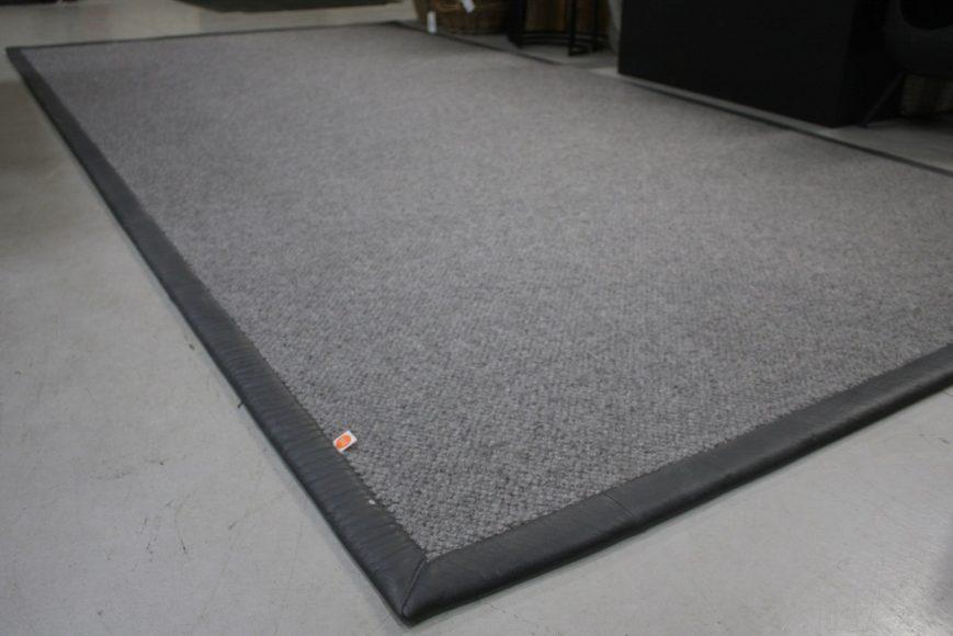 1c vloerkleed carpet karpet Elephant jess design leer wol grijs grey 190 x 370 cm hal54
