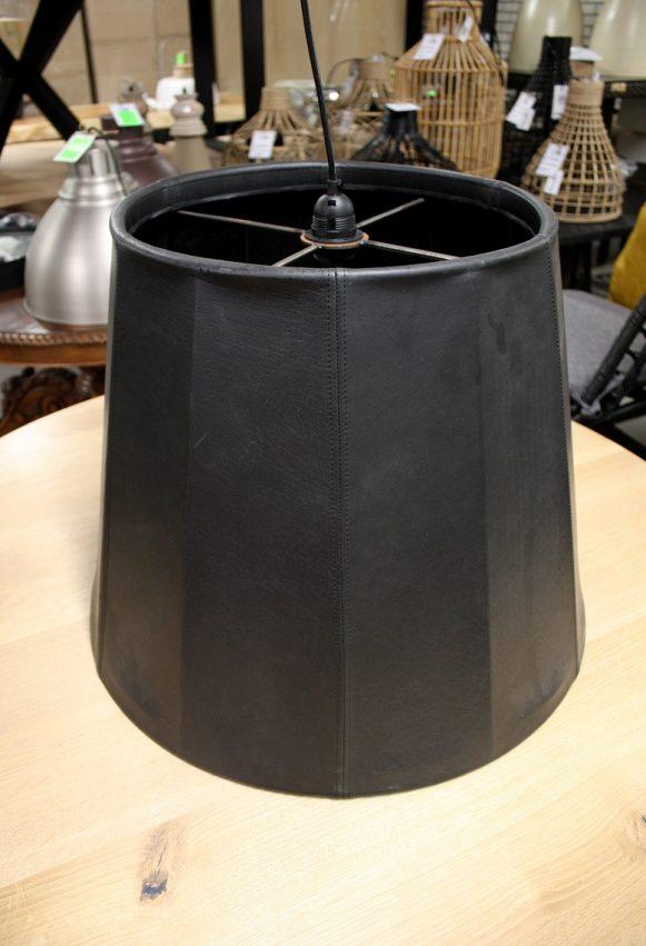 16 grote ronde hanglamp Lola Jess design leer hal54