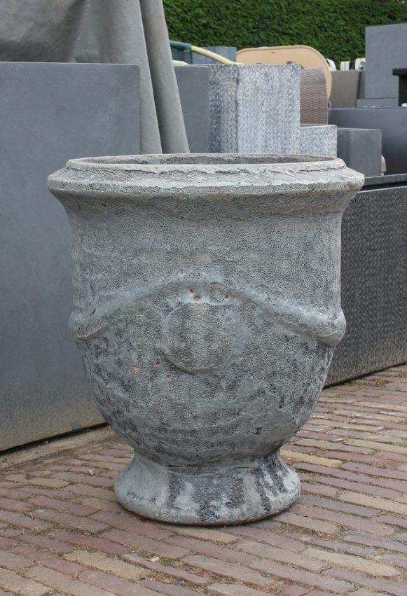 26 grote ronde bloempotten klassiek beton terraotta pedestal grijs robuust hal54