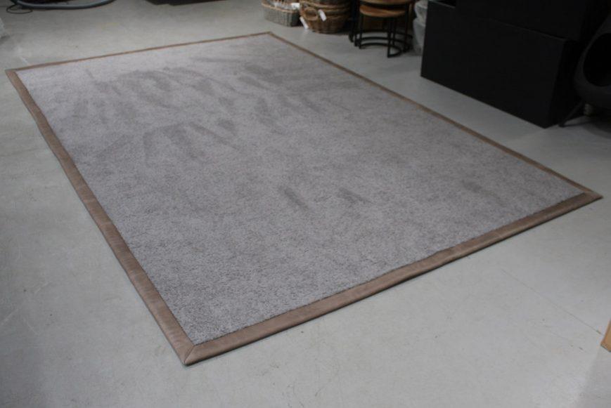 3 vloerkleed carpet karpet Donkey Jess design leer wol grijs grey bruin 200 x 300 cm hal54