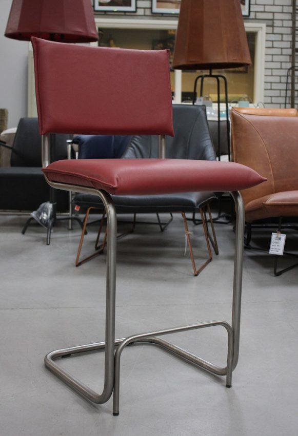 3d barstoelen barkrukken Senso metaal leer Jess design Royal red industrieel hal54
