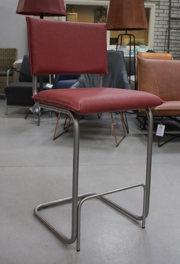 3i barstoelen barkrukken Senso metaal leer Jess design Royal red industrieel hal54