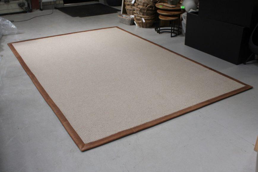 4 vloerkleed carpet karpet Deer jess design leer wol naturel bruin 200 x 300 cm hal54