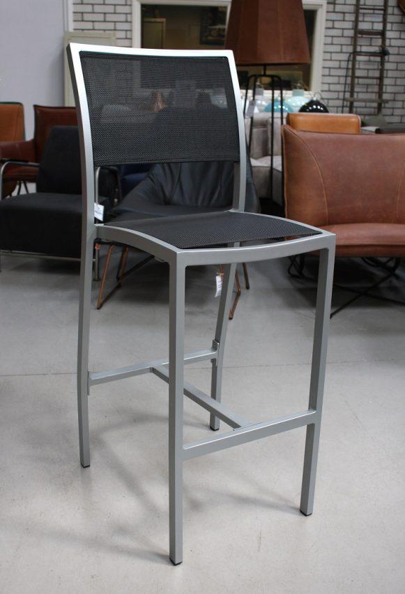 33d barkrukken Rowan aluminium textileen terras wit zwart hal54