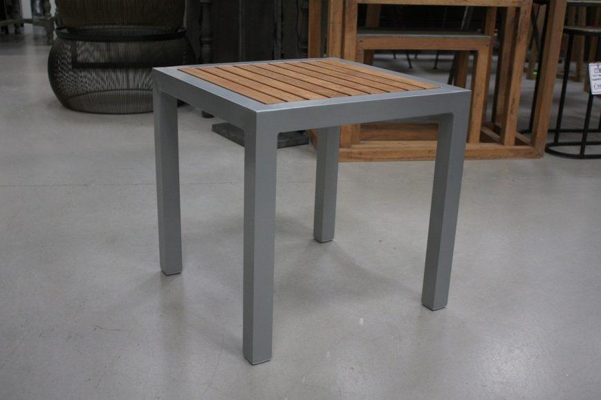 40b salontafel vierkant hocker krukje aluminium teakhout terras hal54