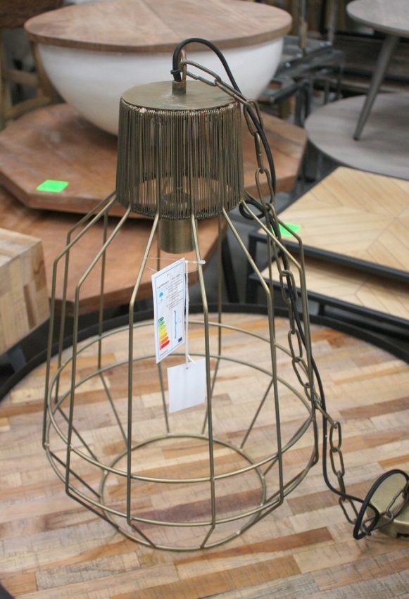 8 hanglamp metaal goud draadlamp industrieel hal54